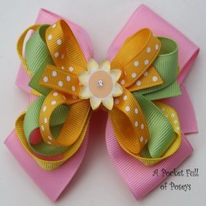 Hair Bow Made to Match Gymboree Sunflower Fields